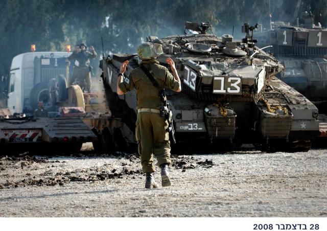 IDF Tanks Moving South as Part of Operation Cast Lead