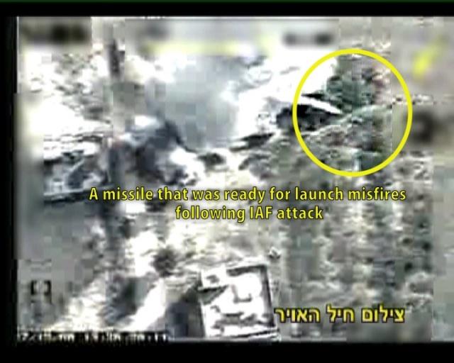 Gaza Rocket Misfires after IAF Strike on Launching Site