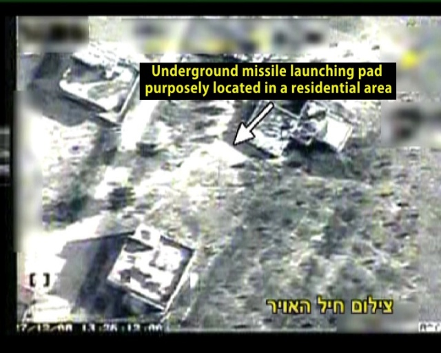 Underground Rocket Launching Site Located in Populated Area in Gaza