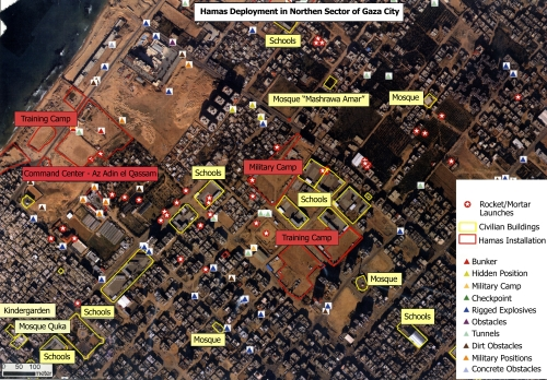 Hamas Deployment in Northern Sector of Gaza City