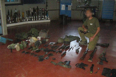 Weapons Discovered by IDF Forces in Nablus