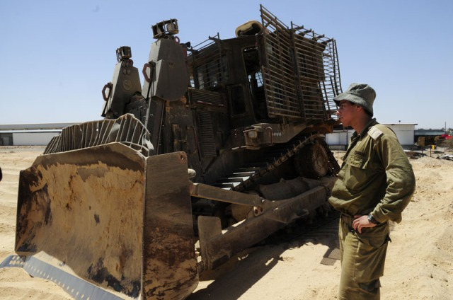 """""""IDF soldier works to clear to clear landmines"""""""
