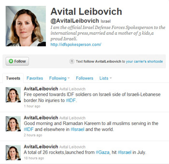 Follow Lt. Col. Avital Leibovich on Twitter.
