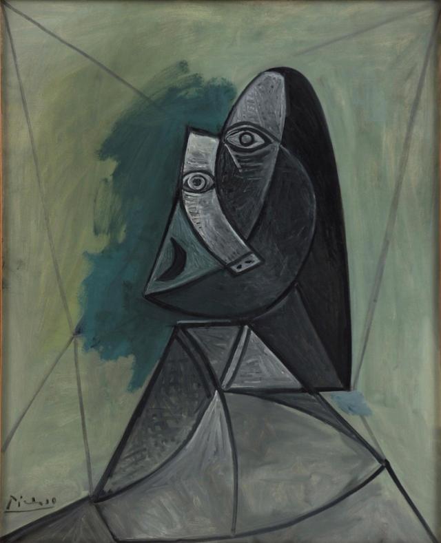 Pablo Picasso's Buste de Femme painting