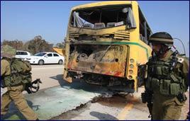 School Bus Being Hit by Anti-Tank Missile
