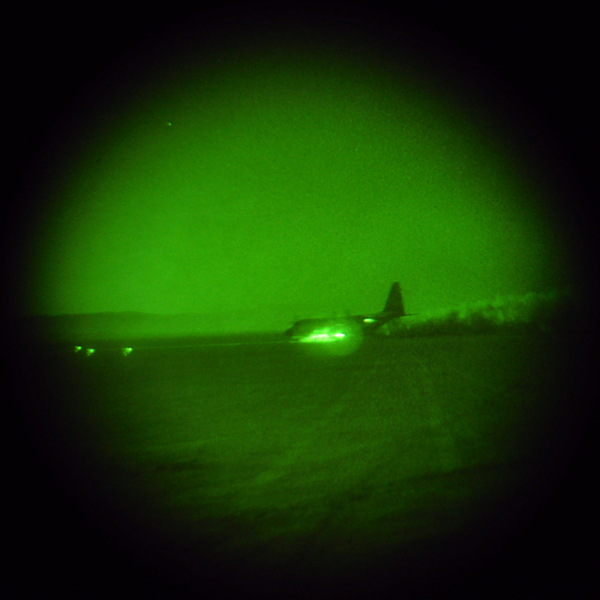 "A ""Hercules"" Dirt-Landing at Night, IAF, Israel Air Force"