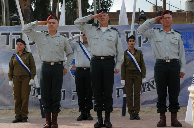 Brig. Gen. Hagai Mordechai (First from Left) Appointed as the New Commander of IDF Judea and Samaria Division, Israel, West Bank,