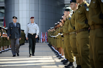 The Chief of the Swiss Armed Forces, Lt. Gen. André Blattman, visits Israel for the first time