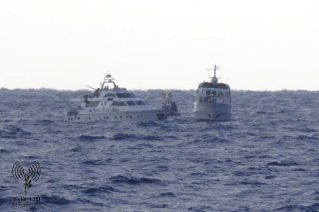 Israel Navy Soldiers Board Provocation Vessels, Leading Them to Ashdod Port