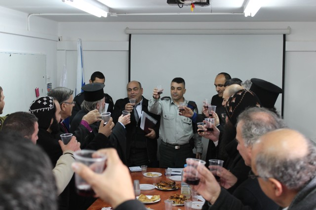 Religious Leaders from Bethlehem and Representatives from COGAT , IDF, Christmas, israel, west bank, Judea and Samaria