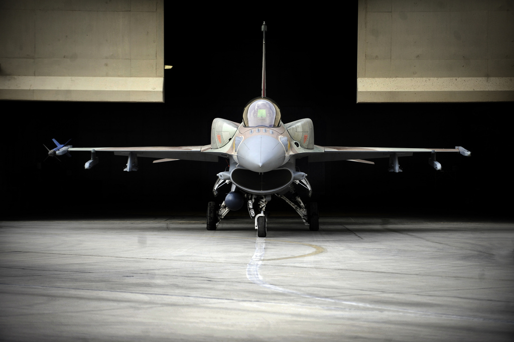 "F-16I ""Sufa"" Awaits Departure at the Hanger"