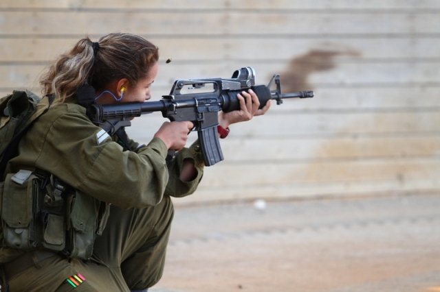 IDF Female Combat Practices Shooting