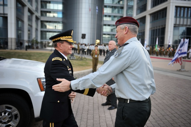 General Martin E. Dempsey Visits Israel, Israel, Israeli, Israel Defense Forces, army, military, Lt. Gen. Benny Gantz, IDF, Chief of Staff