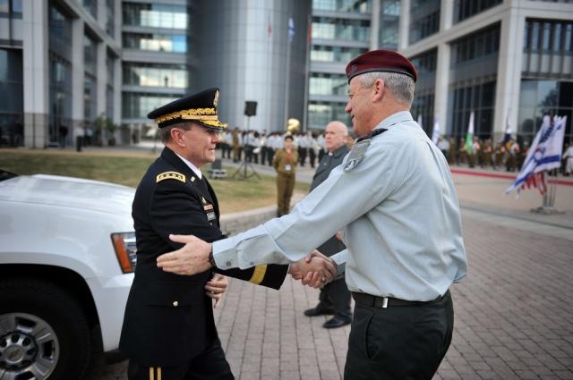 General Martin E. Dempsey Visits Israel, Israel, Israeli, Israel Defense Forces, army, military, Lt. Gen. Benny Gantz, IDF, Chief of Staff