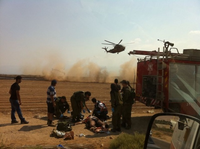 Many Palestinians are evacuated using IDF helicopters